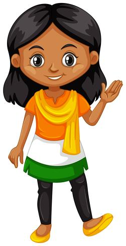 dd300d11d Indian girl wearing shirt with color of the flag - Download Free ...