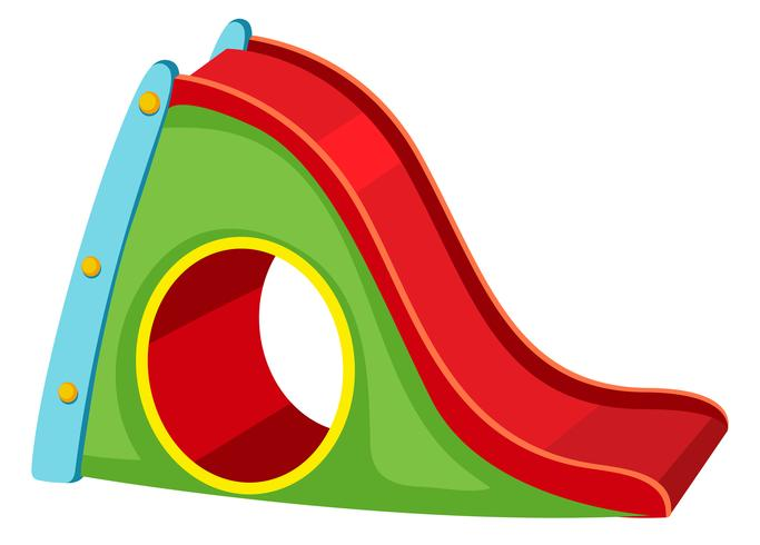 Playground slide white background vector