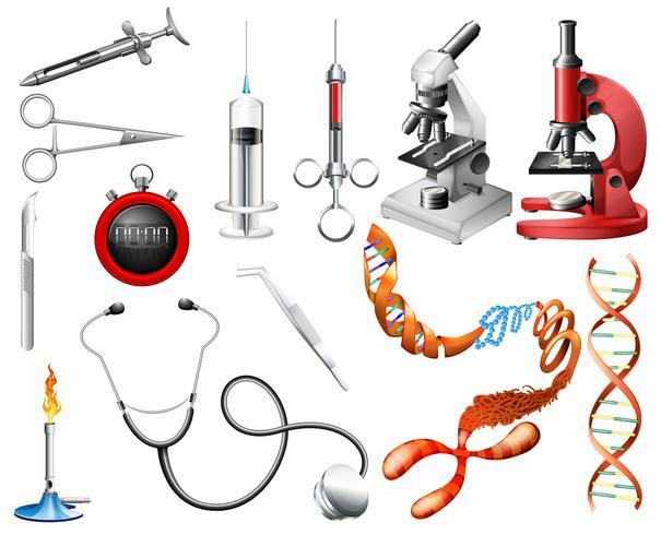 Set di strumenti e attrezzature da laboratorio