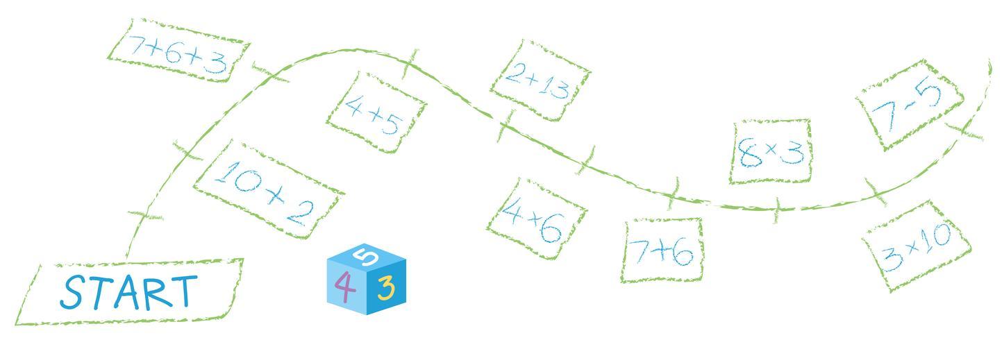 A Math Calculation Path Game vector
