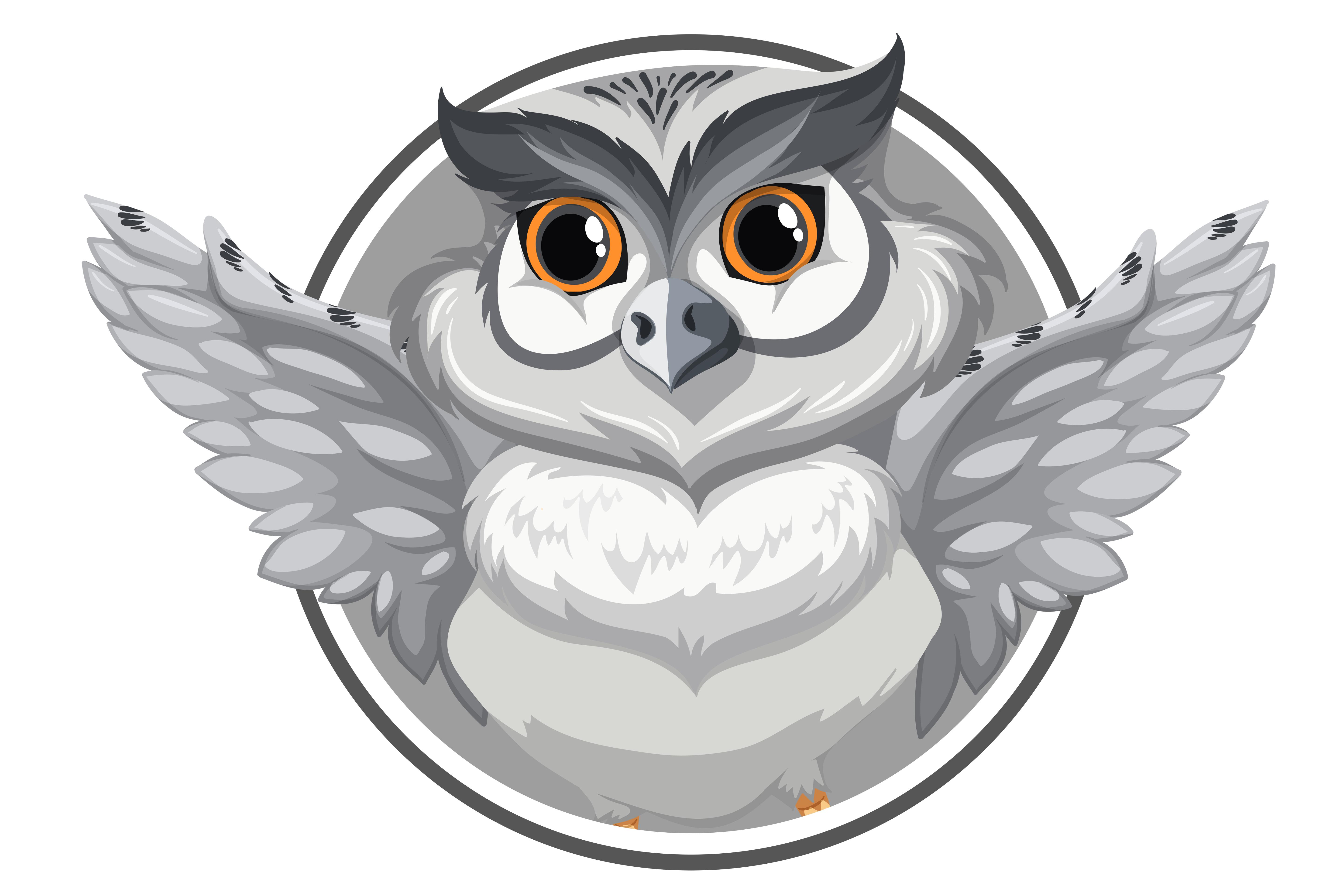 A grey owl banner - Download Free Vectors, Clipart ...