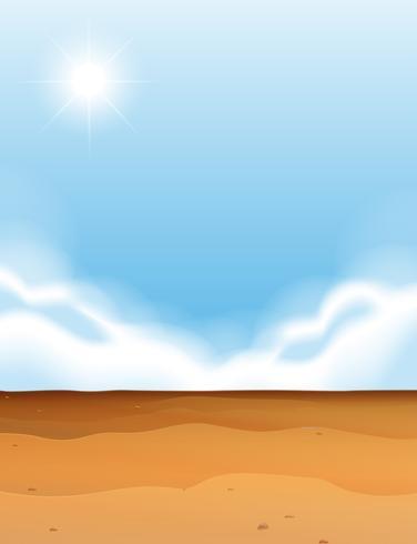 Scen med öken och blå himmel