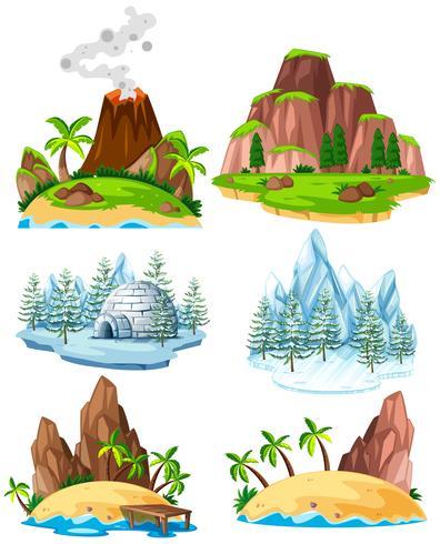 Set av platser i olika säsong
