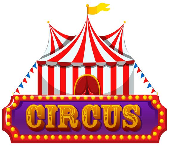 A Circus Banner on White Background