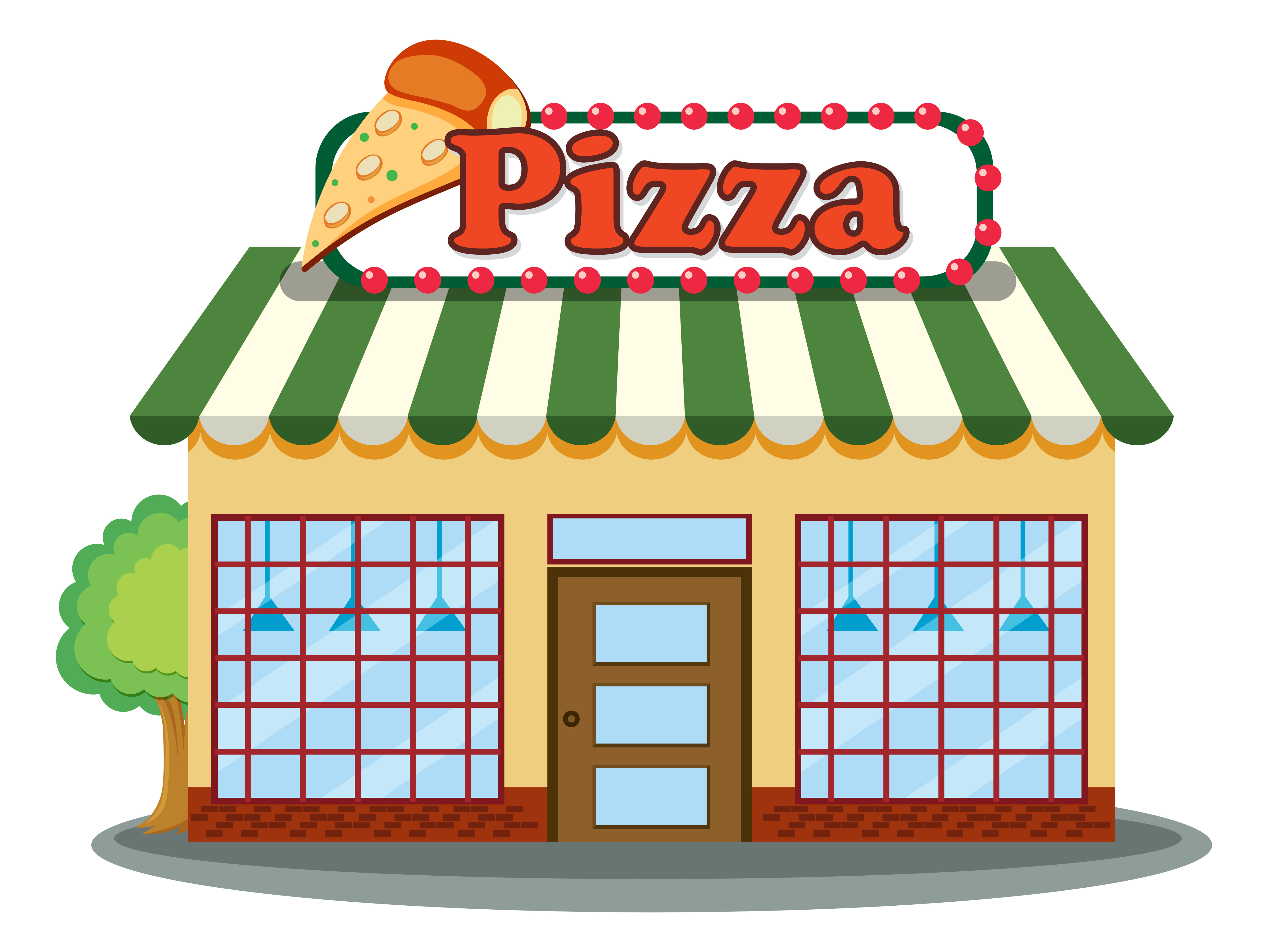 A Pizza Shop On White Background Download Free Vectors Clipart Graphics Vector Art