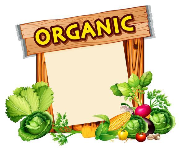 Sinal orgânico com legumes misturados