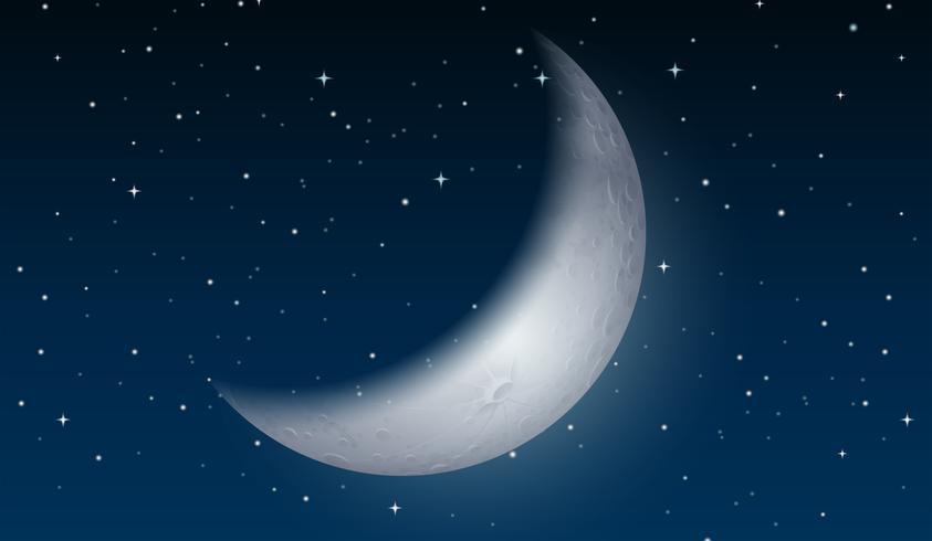 Una luna nel cielo