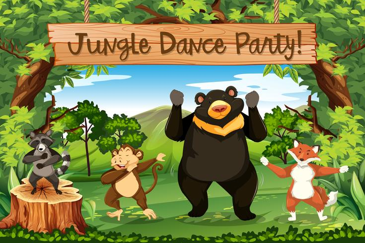 Dieren jungle dance party