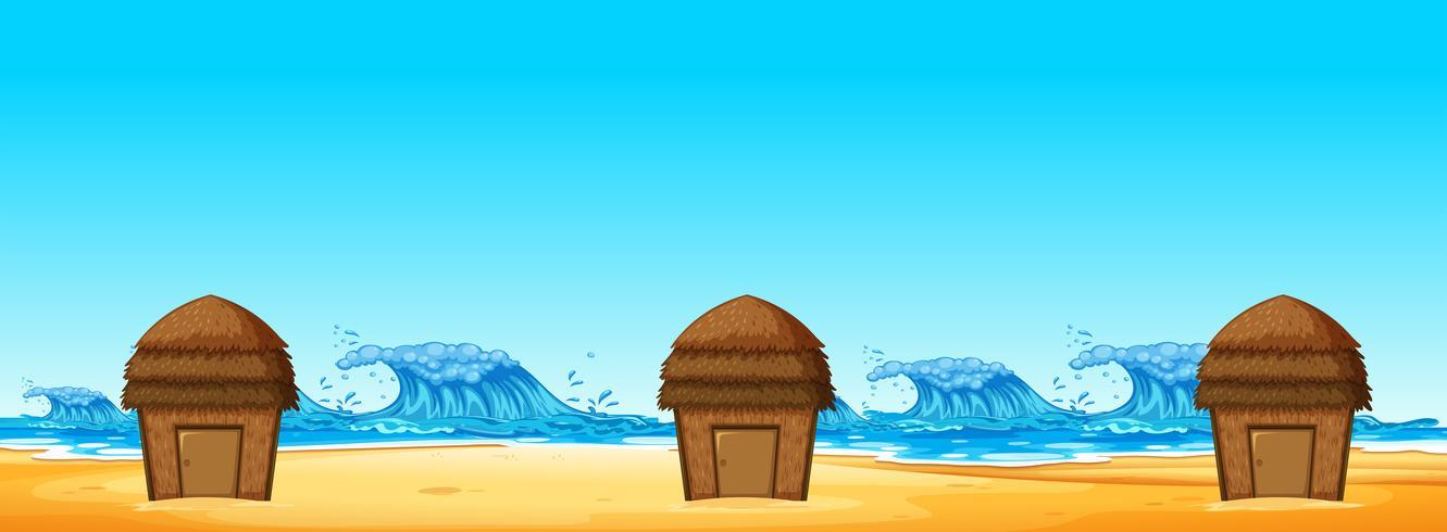 Seamless of Beach Hut