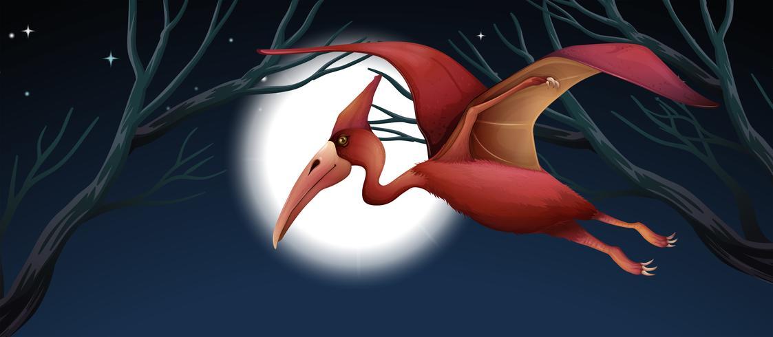 Een pterodactly dinosaurusscène