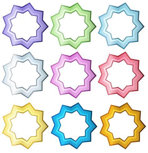 Set colorato di stelle