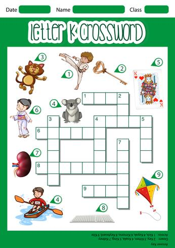 Letter k crossword concept - Download Free Vector Art, Stock Graphics & Images
