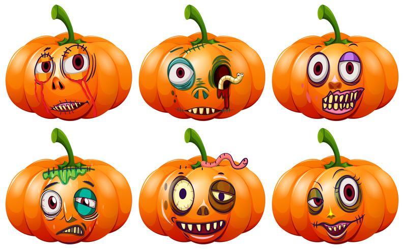 Set di zucca di halloween