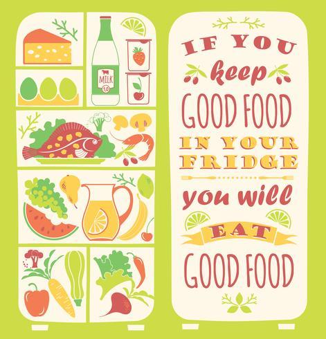 Gesunder Essenhintergrund mit Zitat