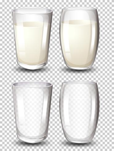 Conjunto de copo de leite