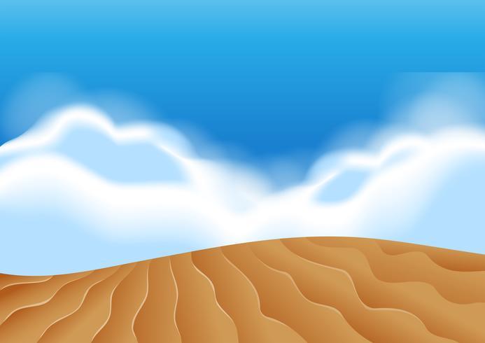 Illustartion di scena di dune di sabbia vettore
