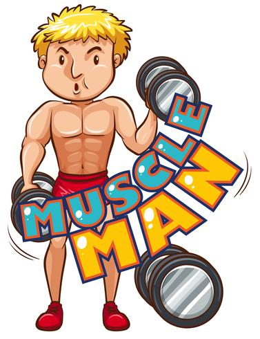 Muscle man with athlete