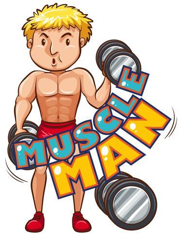 Homme muscle avec athlète