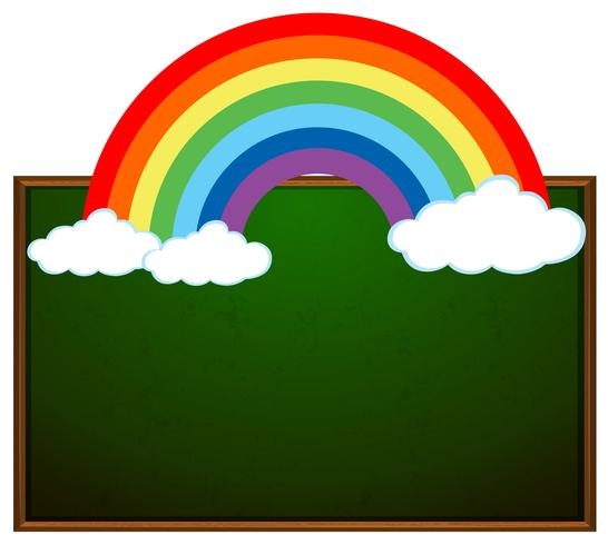 Tafel und Regenbogenfahne