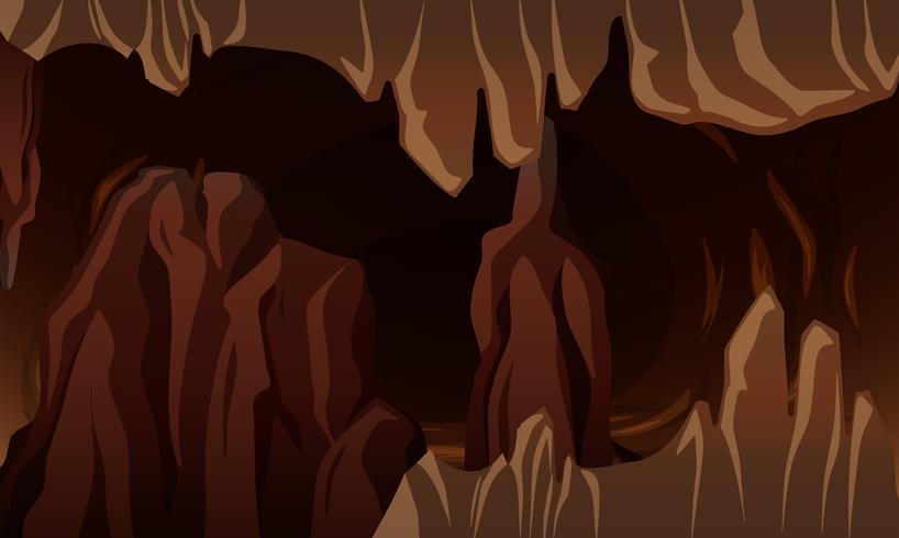 Una caverna oscura subterránea