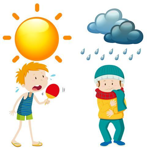 Persone in estate e in inverno