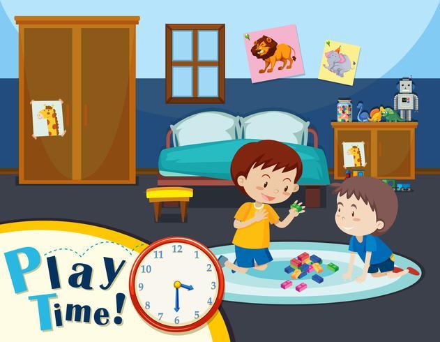 Tiempo de juego con dos niños