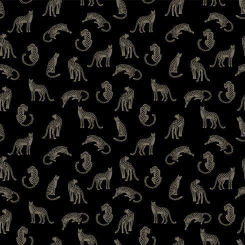 Patrón sin fisuras con leopardos. vector