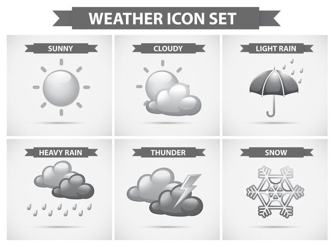 Weather icon with different types of weathers