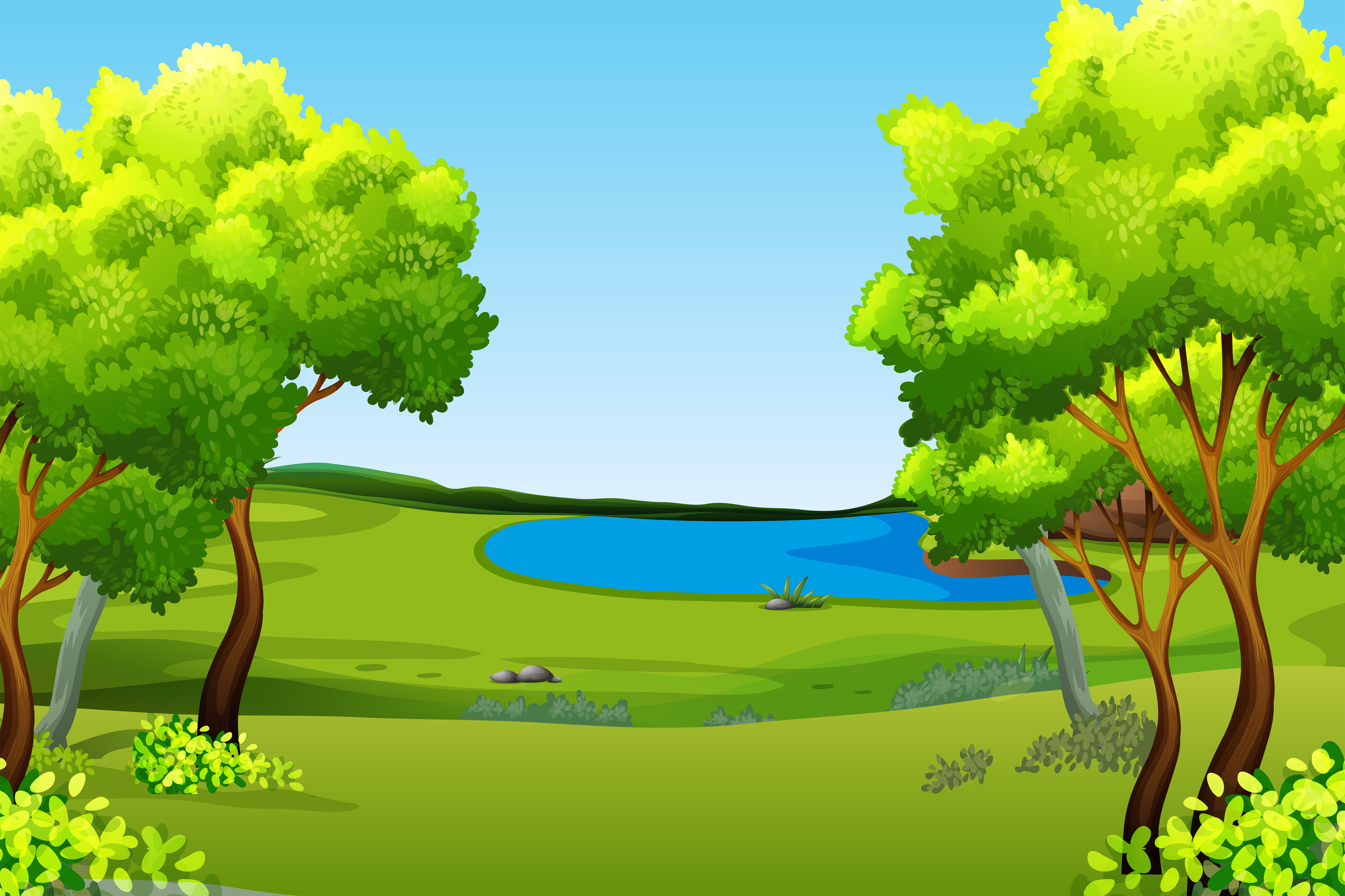 A green nature background - Download Free Vectors, Clipart ...