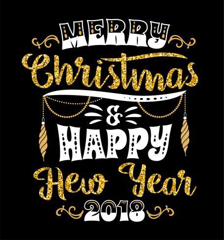 Desenhos de letras de Natal e ano novo. Elementos do vetor