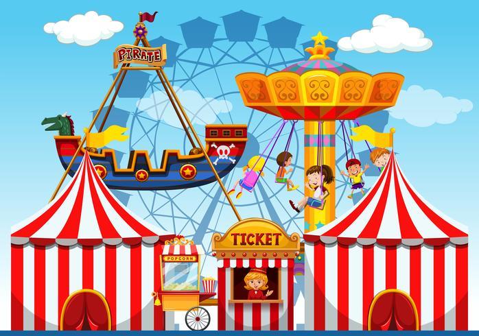 Fundo de raide de feira de diversões