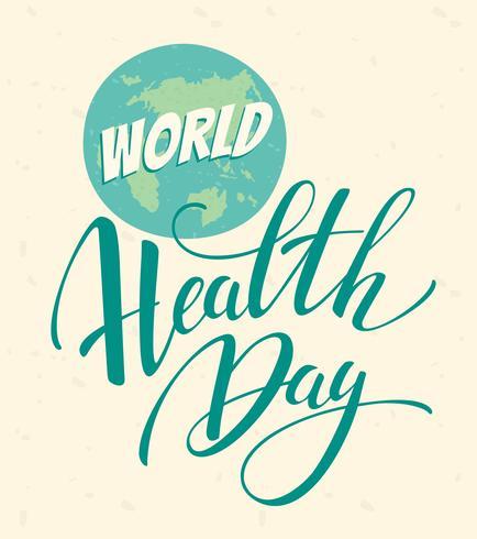 Ilustración de vector de día mundial de la salud.