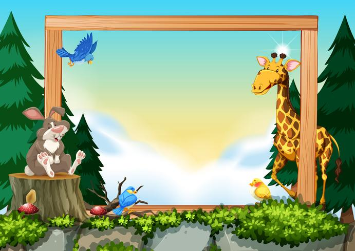 Wild animals on nature frame - Download Free Vector Art, Stock Graphics & Images