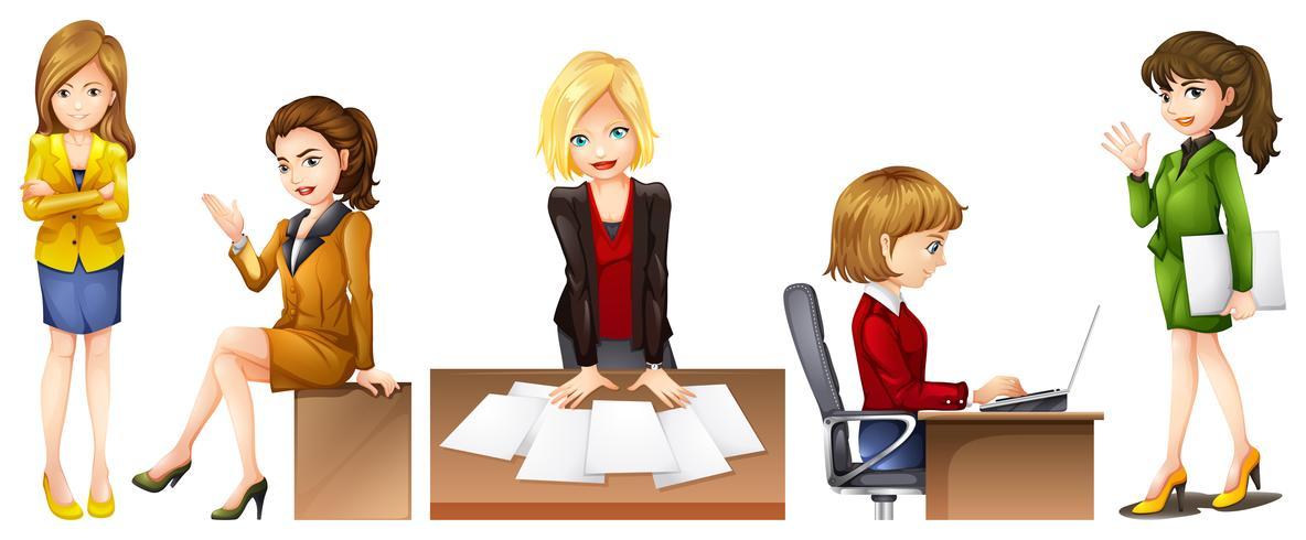 Trabalhadores de escritório