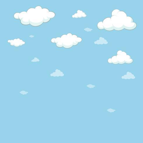 Modelo de plano de fundo com céu azul