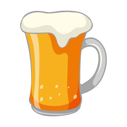 A Cold Beer on White Background Vector - Download Free