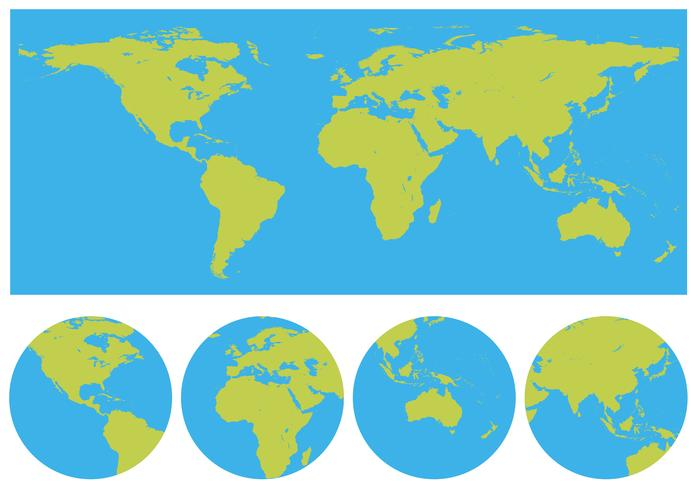 Wereldkaarten in vele ontwerpen