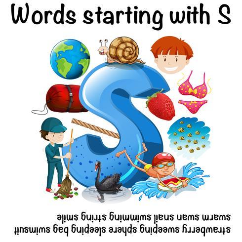 Muitas palavras que começam com S