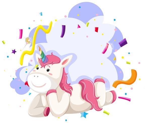 Un tema de fiesta de personaje unicornio vector