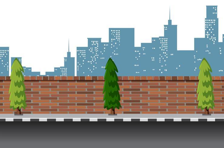 Städtische Straßenszene