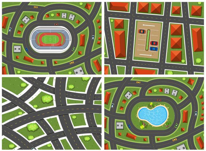 A Set of Map Ariel View