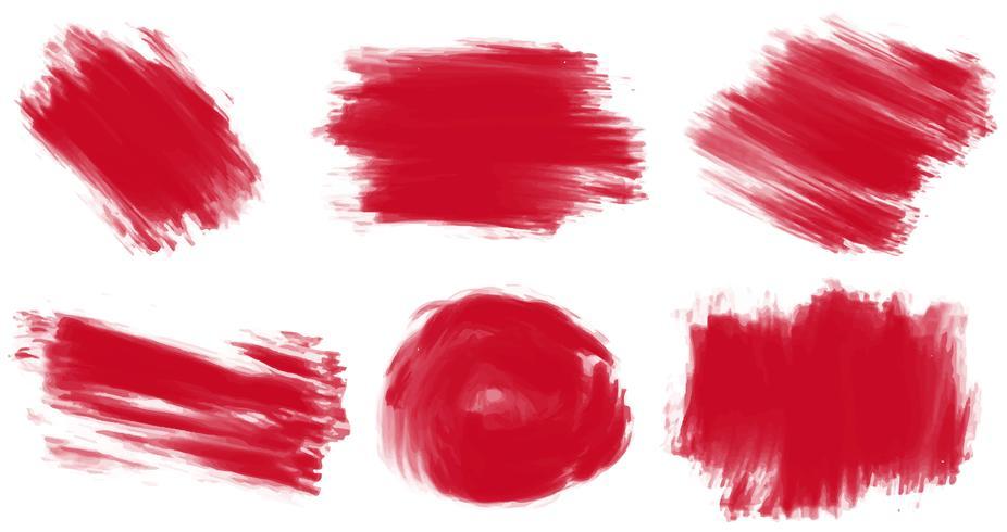 Tinta vermelha vetor