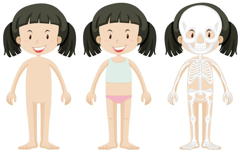 Girl and body parts