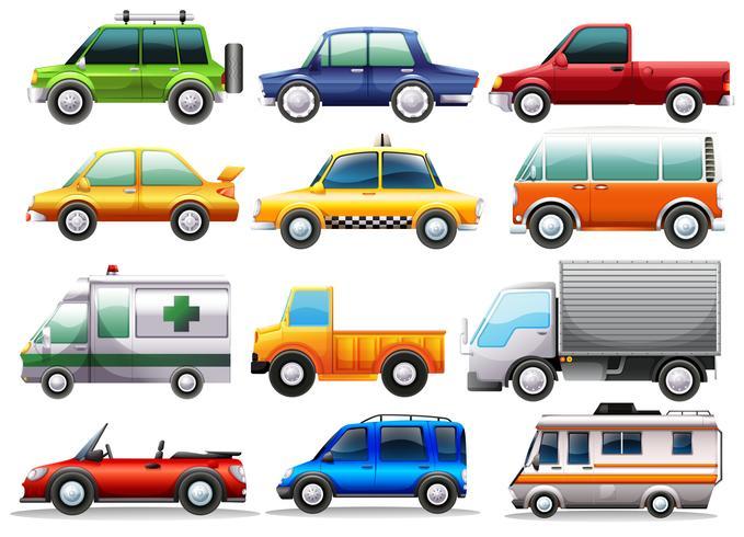 Diferentes tipos de coches
