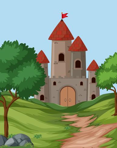 Grande cena de fundo do castelo
