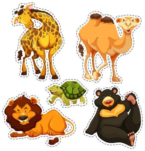 Adesivo con animali selvatici