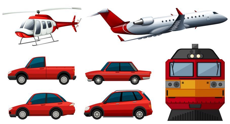 Olika transportformer vektor