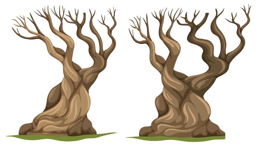 Set di albero morto vettore