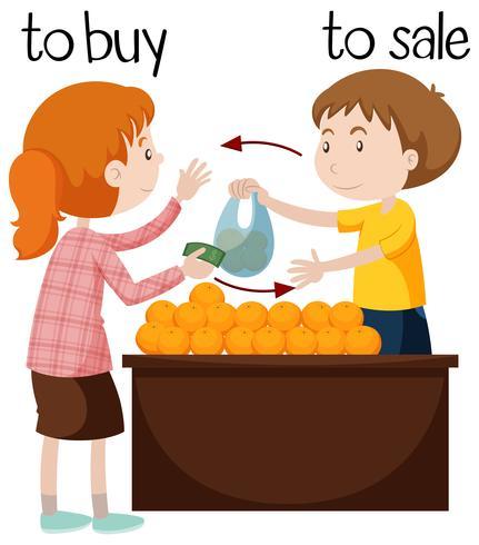 Obstverkäufer, der Orangen verkauft