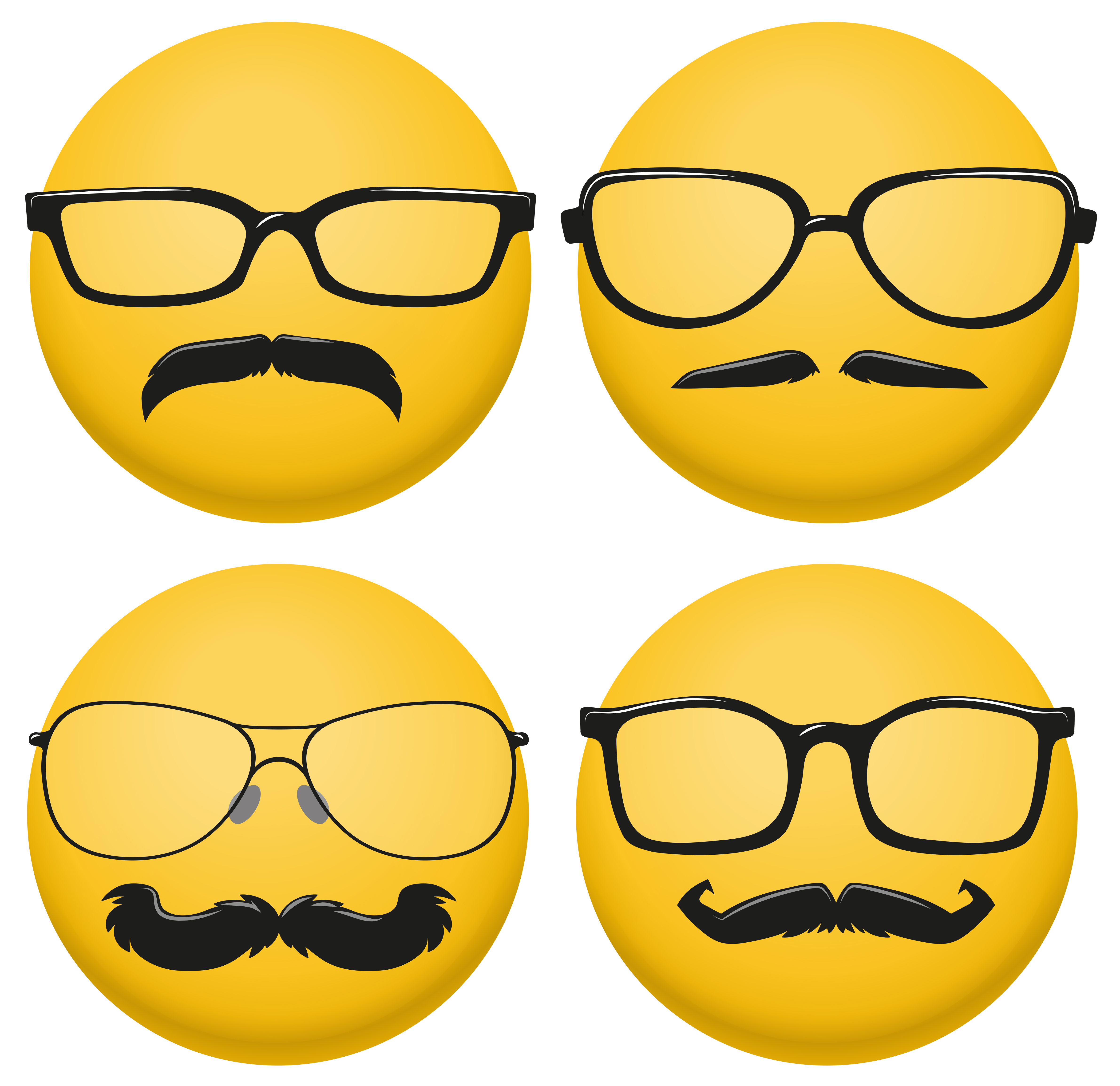 Magnificent Different Styles Of Glasses And Mustaches On Yellow Ball Schematic Wiring Diagrams Amerangerunnerswayorg